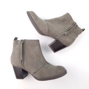 Old Navy Suede Gray Heeled Boots